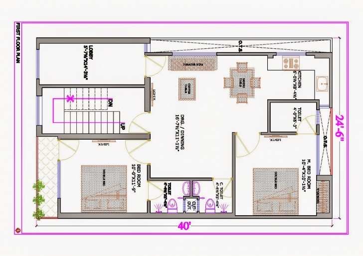 Classy Uncategorized : 3D Duplex House Plan India Marvelous In Fascinating 16 X 50 House Plans India Picture
