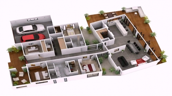 Cool 4 Bedroom House Plans Indian Style 3D - Youtube 4 Bedroom House Plans Indian Style 3D Image