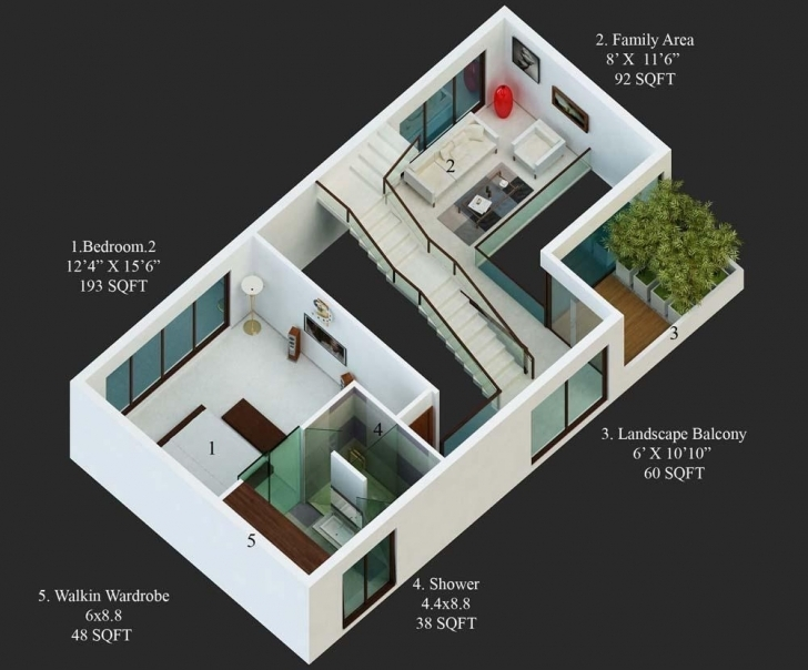 Cool Amusing Group House Plans In India Images - Exterior Ideas 3D - Gaml 15*50 House Design 3D Pic