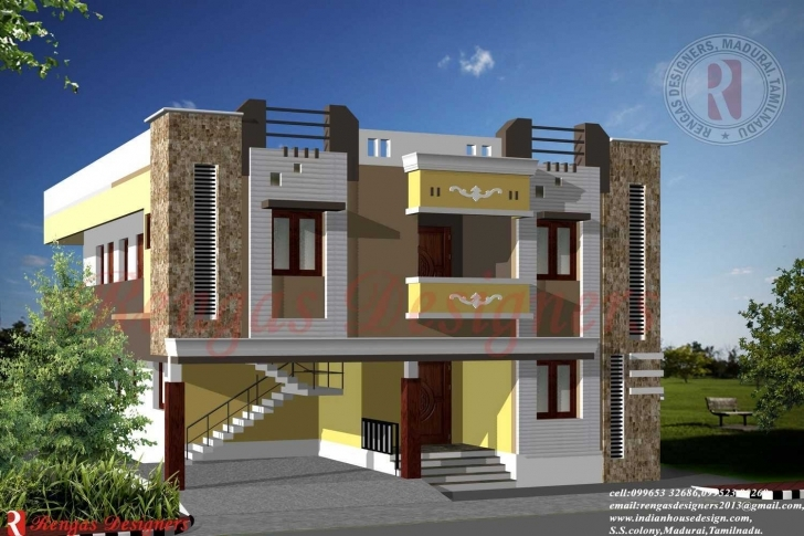 Cool Awesome 2 Floor Front Elevation And House Plan Rare Inspirations Home Front Design Double Floor Picture