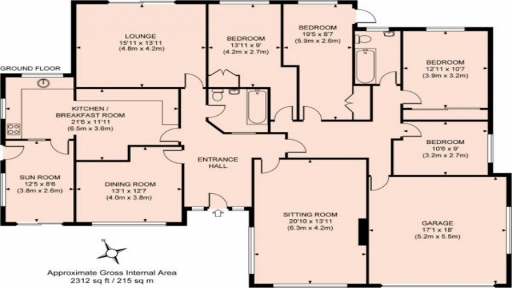 Cool Bedroom: Bungalow House Plans 4 Bedroom Four Bedroom Bungalow House Plan Pic