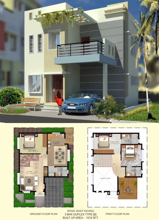 Cool Floor Plan - Balaboomi City 30 40 3 Bhk House Plans East Facing Picture