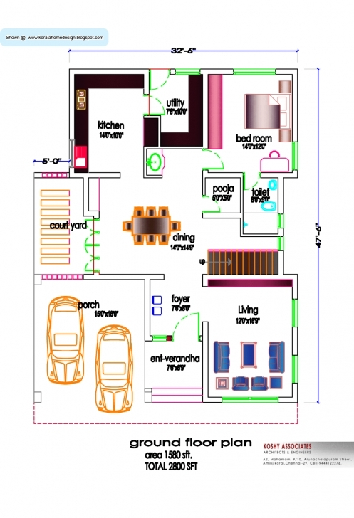 Cool Free Small House Plans Designs India | The Best Wallpaper Of The 1500 Square Feet House Plans For Indian Style Image