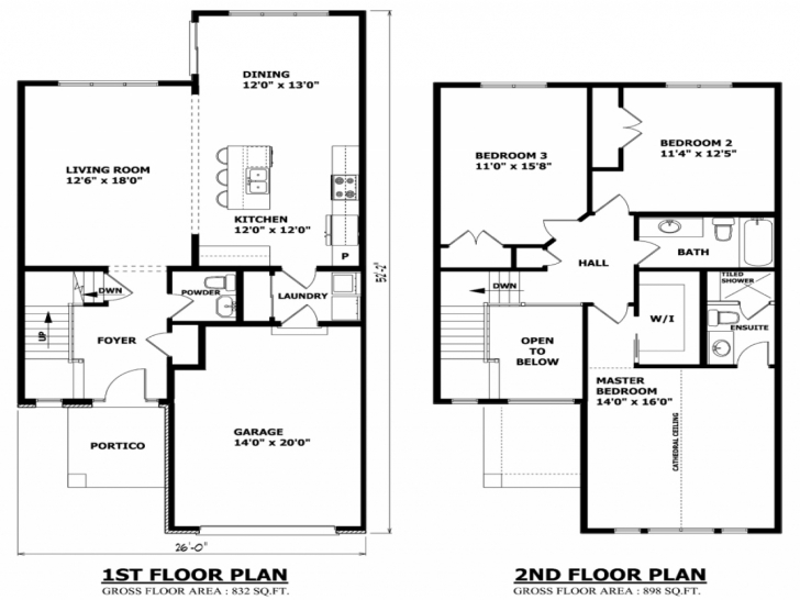 Cool Home Architecture: The Best Bedroom Double Storey House Plans Of Simple 4 Bedroom House Plans Without Garage Picture