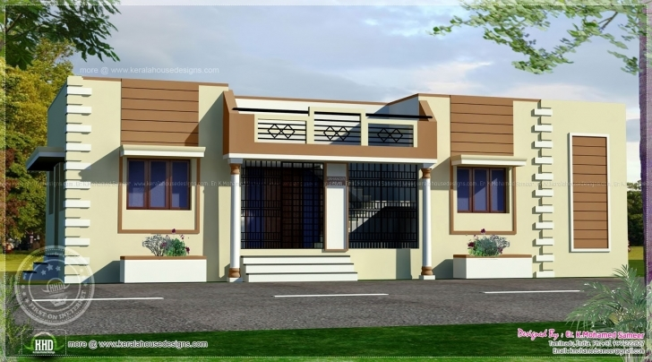 Cool Inspirations: Single Floor House Front View Designs Also Home Design Single House Front Design Picture