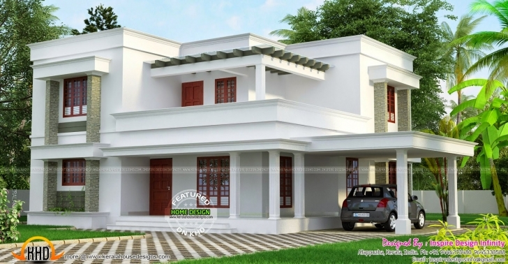 Cool Simple But Beautiful Flat Roof House Kerala Home Design Floor Beautiful Flat Roofed Houses Photo