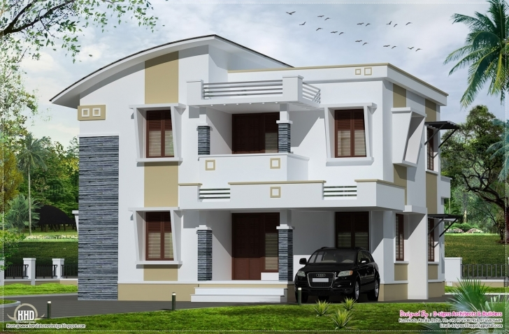 Cool Simple Flat Roof Home Design Feet House Plans - Building Plans Simple Flat Roofed Houses Image