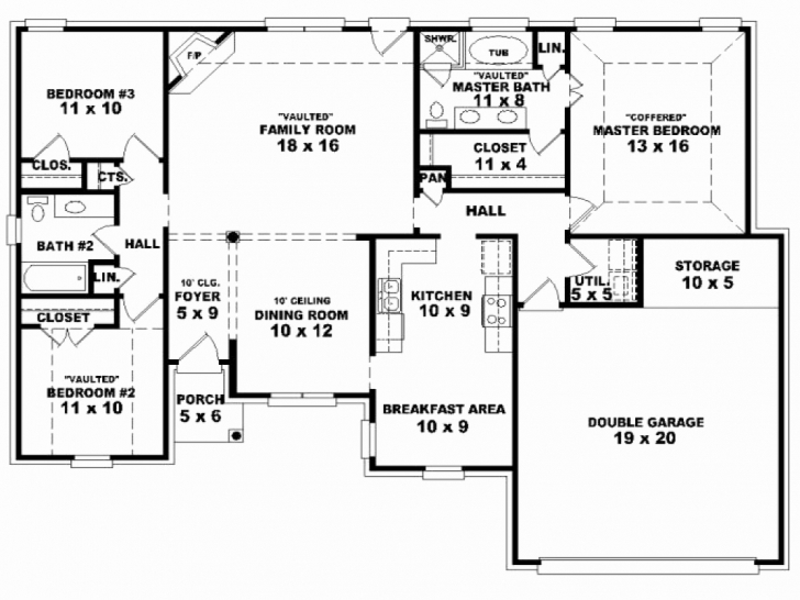 Cool Simple House Plans With Double Garage Awesome Ingenious Design Ideas Simple 4 Bedroom House Plans South Africa Picture