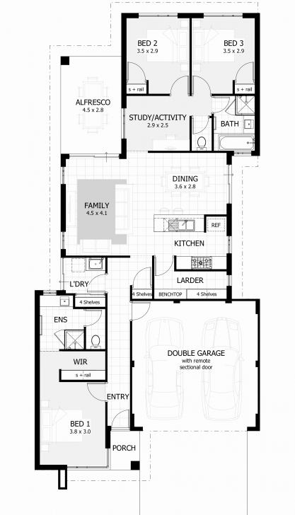 Exquisite 3 Bedroom House Plans With Double Garage Australia Fresh House Plans 3 Bedroom House Plans With Double Garage Australia Picture