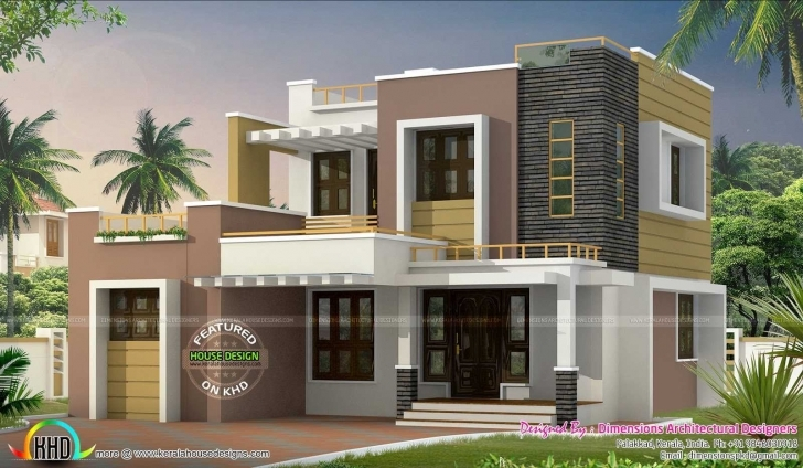Exquisite Charming Kerala Model House Plans 1500 Sq Ft With Contemporary Home Contemporary Model House Picture