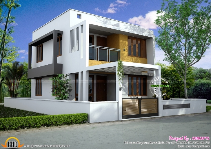 Exquisite Low Budget Modern 3 Bedroom House Design In Kerala | The Base Wallpaper Low Budget Modern 3 Bedroom House Design In Kerala Picture