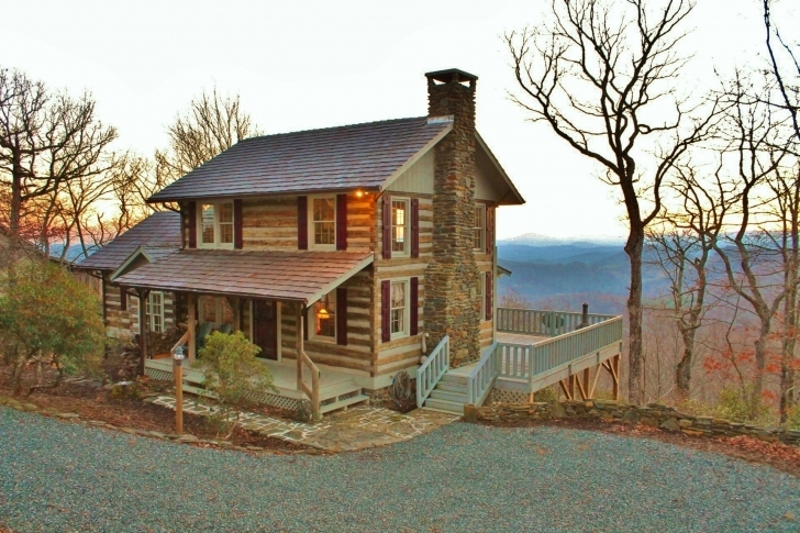 Exquisite Mountain View Log Cabin Rustic Mountain Homes For Sale Picture