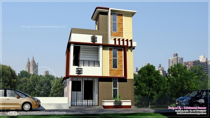 Exquisite Tamilnadu Style 3 Storey House Height | House Design Plans 15 X 50 House Elevation Photo