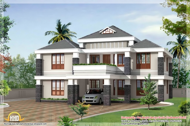Exquisite Trendy 4 Bedroom Kerala House Design - 3080 Sq.ft. | Home Appliance Kerala Full Hd House Photo Photo