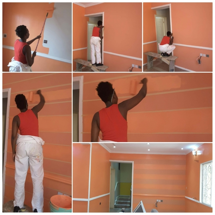 Exquisite Udoka Uju: The Lady Painter Transforming Nigerian Homes - For Latest House Painting In Nigeria Pic