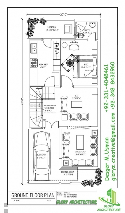 Fantastic 20 X 45 | Working Plans | Pinterest | House, Indian House Plans And 20 45 House Plan 3D Elevation Image