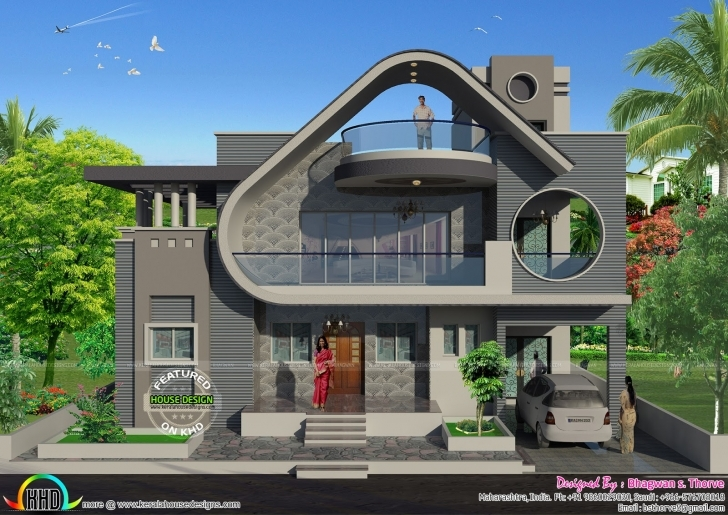 Fantastic 2100 Sq-Ft 4 Bedroom Unique North Indian House | Kerala Home Design Pictures Of 2100 Sq Feet Image