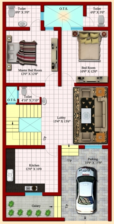 Fantastic 25×50 House Plan Inspirational Glamorous House Plans 15 X 50 15*50 House Plan 3D Image