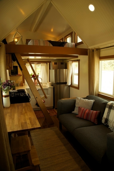 Fantastic 300 Sq. Ft. (Incl. Lofts) Custom Craftsman On Wheels Featured On The Dreamer Tiny House Swoon Pic
