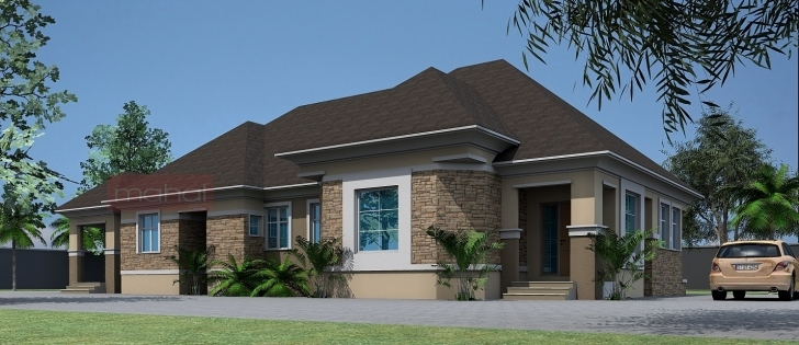 Fantastic Contemporary Nigerian Residential Architecture Bedroom Bungalow 4 Bed Room Buildings Photo