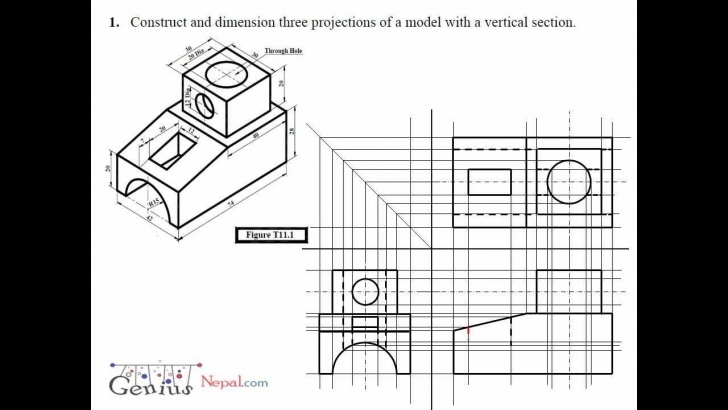 Fantastic Engineering Drawing Tutorials / Orthographic Drawing With Vertical How To Draw One Stop Solution Photo