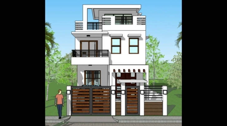 Fantastic Modern House 3D Elevations And Plans - Youtube Modern 3D Elevation Picture