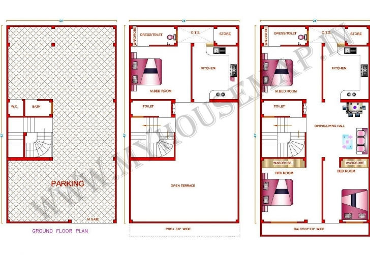 Fantastic Nice House Map 15 X 40 #8: Home Design 30 X 50 - Home Design 30 X 50 15 X 50 House Map In India Picture