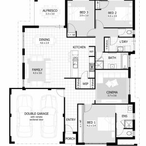3 Bedroom House Floor Plans With Models