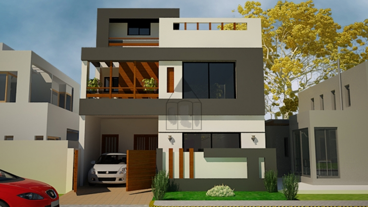 Fascinating 5 Marla House Front Design   This Is A Standard 5 Marla House Front 5 Marla House Front Elevation Designs Pic