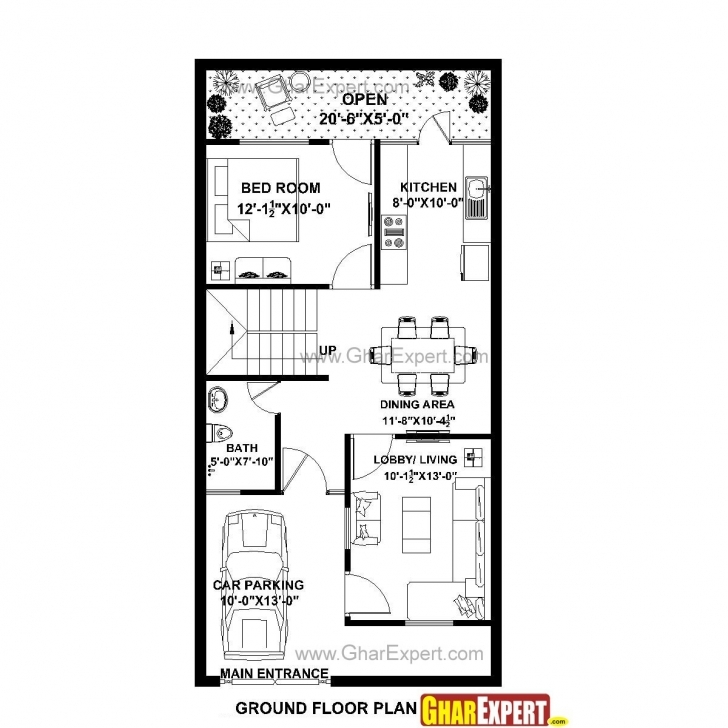 Fascinating 800 Square Foot House Plans Fresh 20 X 40 House Plans 800 Square 22*40 House Plan Picture