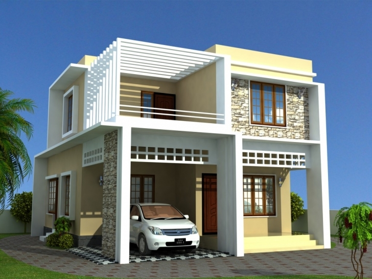 Fascinating Contemporary Model Plans - Cadd Artech | Kerala Model Home New Model House 2017 Image