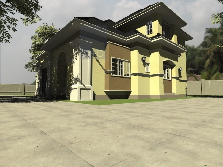 Fascinating Contemporary Nigerian Residential Architecture 3 Bedroom Bungalow With Pent House In Nigeria Image