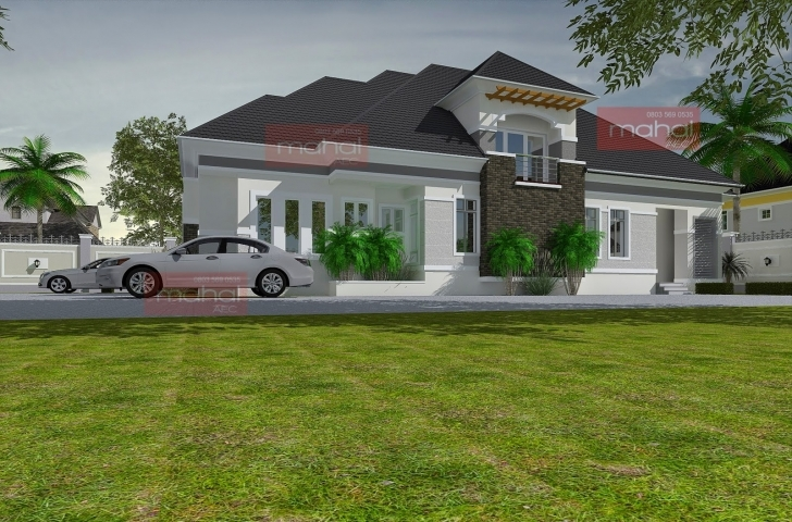 Fascinating Contemporary Nigerian Residential Architecture 3 Bedroom Bungalow With Pent House In Nigeria Photo
