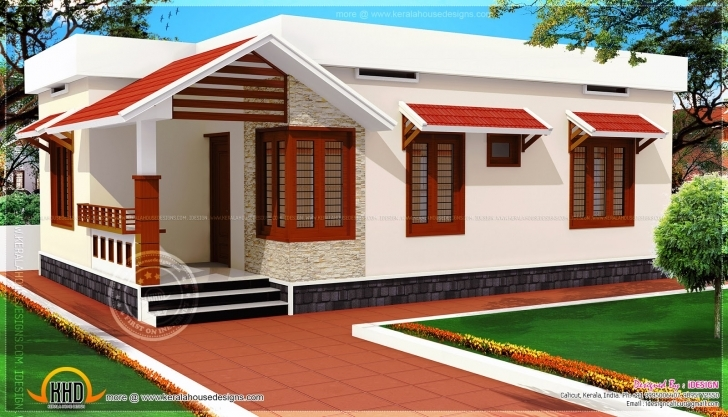 Fascinating Home Plan In Kerala Low Budget - Homes Floor Plans Low Budget Modern 3 Bedroom House Design In India Picture