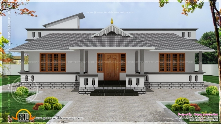 Fascinating Single Floor House With Stair Room - Kerala Home Design And Floor Plans Karala Palan Model House Picture
