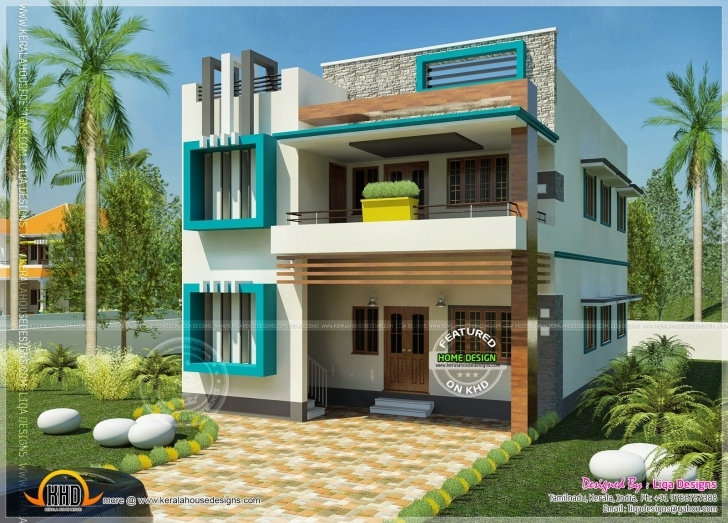 Fascinating South Indian Contemporary Home Kerala Design Floor Plans • Homes South Indian Style Small House Plans With Photos Image