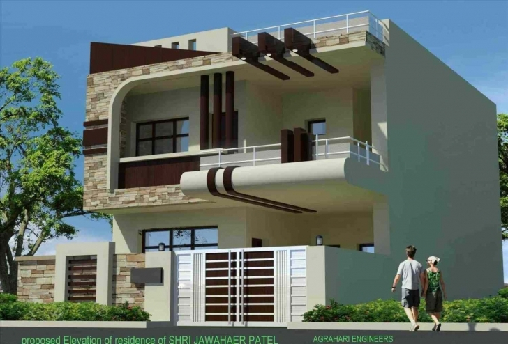 Fascinating Uncategorized : Home Front Design In Indian Style Marvelous For Home Front Stylish Image Pic