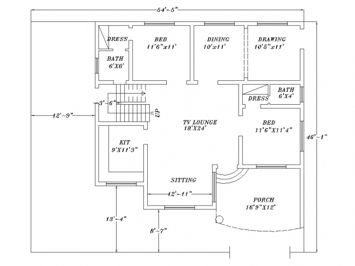 Good 28+ Collection Of Autocad 2D Home Drawing   High Quality, Free Autocad 2D Plan Free Download Image