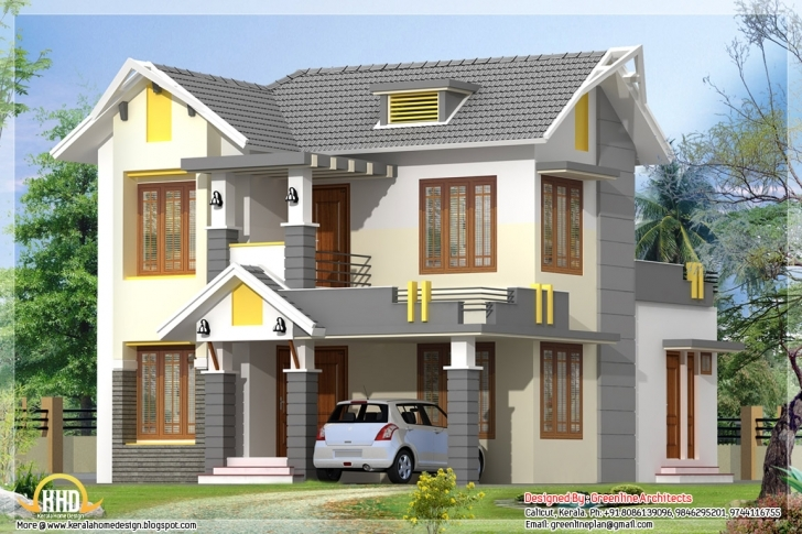 Good 30 House Roof Designs On (1600X900) - Mysitezulu Home 1St Slab Design In Kerala Picture