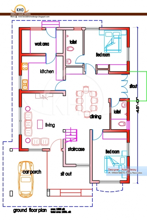 Good 4 Bedroom House Plans Indian Style Awesome December 2014 Kerala Home 1000 Sq Ft House Plans 4 Bedroom Indian Style Image