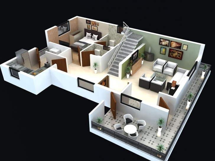 Good Floor Plan For Modern Triplex (3 Floor) House Click On This Link 2 Storey House Plan 3D Pic
