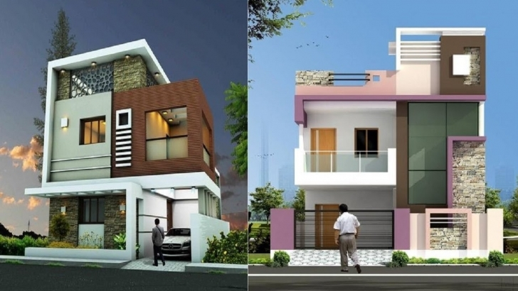 Good House Front Elevation Designs For Double Floor Single Floor House Home Front Design Double Floor Picture