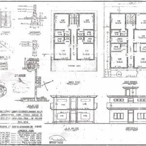 Residential Building Plan Elevation And Section