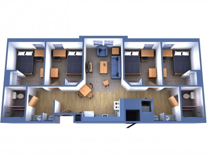 Good Incredible Charming 4 Bedroom Apartment/house Plans – Three Bedroom Four Bedroom Flat Photo