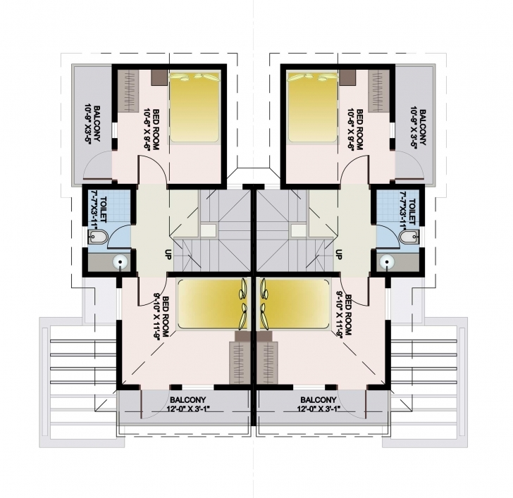 Good Plans: Twin Bungalow Plans Plans For Twins Two Bedroom Flat Image