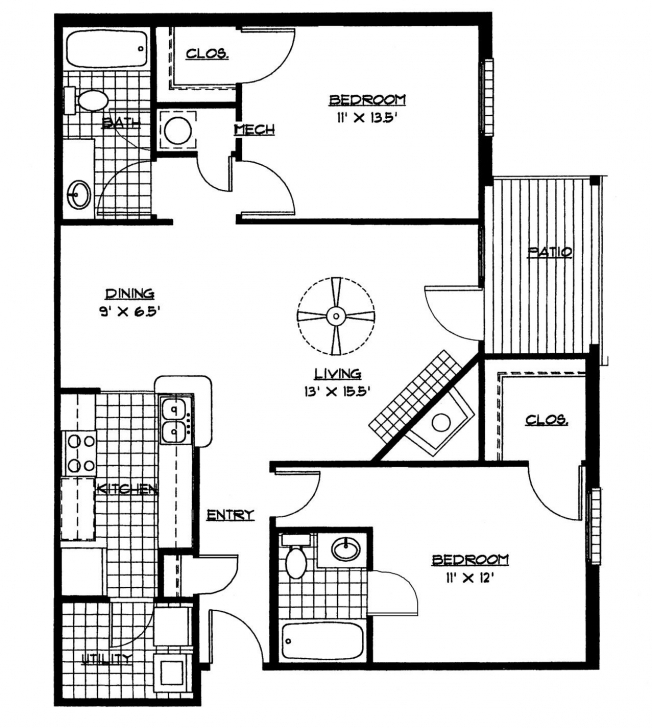 Good Small House Floor Plans 2 Bedrooms Bedroom Plan Download Within Download A Simple Plan For A Three Bedroom House Picture