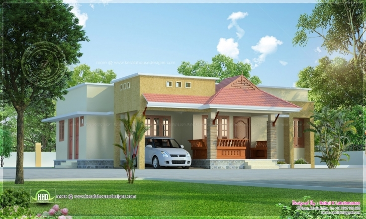 Good Small Kerala Style Beautiful House Rendering Home Design - Building Small House Model Kerala Pic
