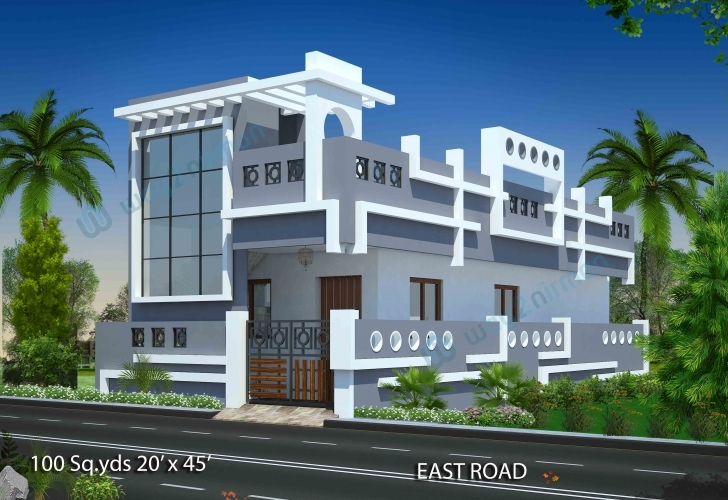 Good Way2Nirman: 100 Sq Yds 20X45 Sq Ft East Face House 1Bhk Elevation 20X45 House Plan East Facing Picture