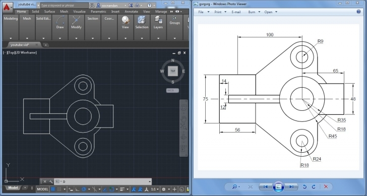 Gorgeous 2D Autocad Practice Drawing - Youtube Autocad 2D Civil Drawings For Practice Picture