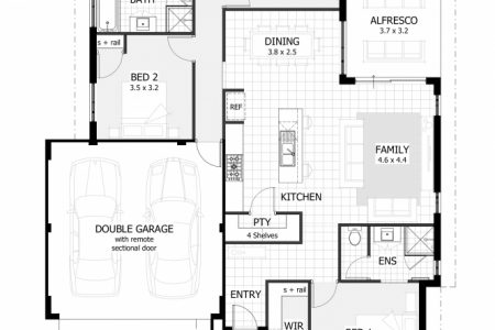 Simple 3 Bedroom House Plans With Garage